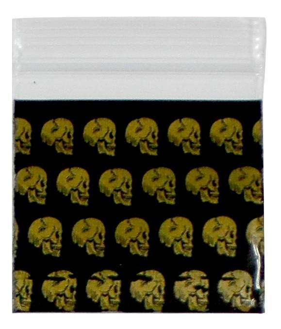 Golden Skull Bag (40mm X 40mm)