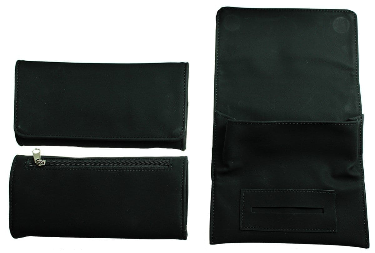 Black PU Tobacco Pouch- Fit 50g