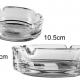 Small Round Glass Ashtray 10.5cm X 3.5cm