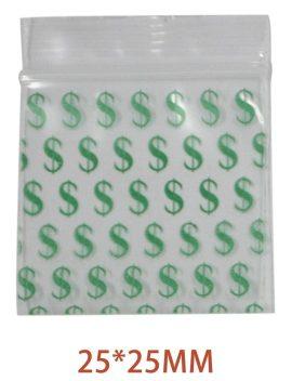 Green Dollar Bag 25mm x 25mm