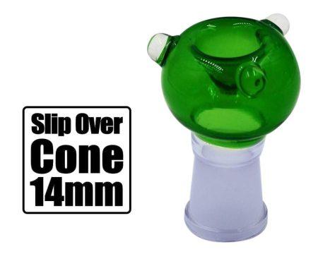 Green 14mm Slip Over Cone Piece