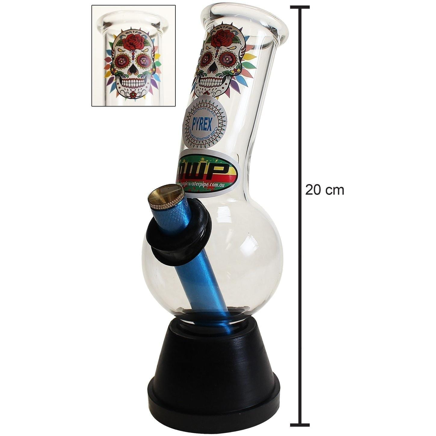 Candy Skull Bonza Waterpipe 20cm
