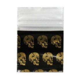 Gold Skull Bag  25mmx25mm (100pieces/each)