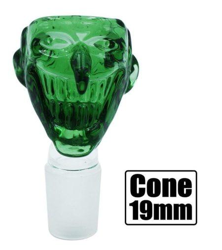 Stone Age Joker Cone Piece - Green 19mm