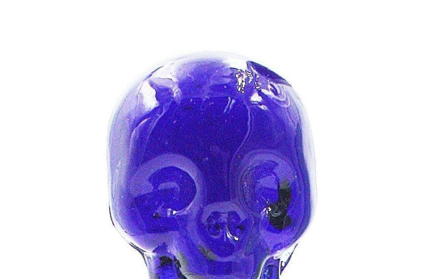 Blue Glass Skull Dabber