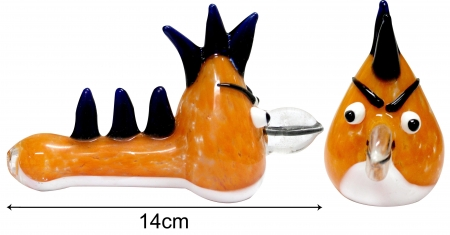 3G Angry Bird Pipe - Orange (14cm)