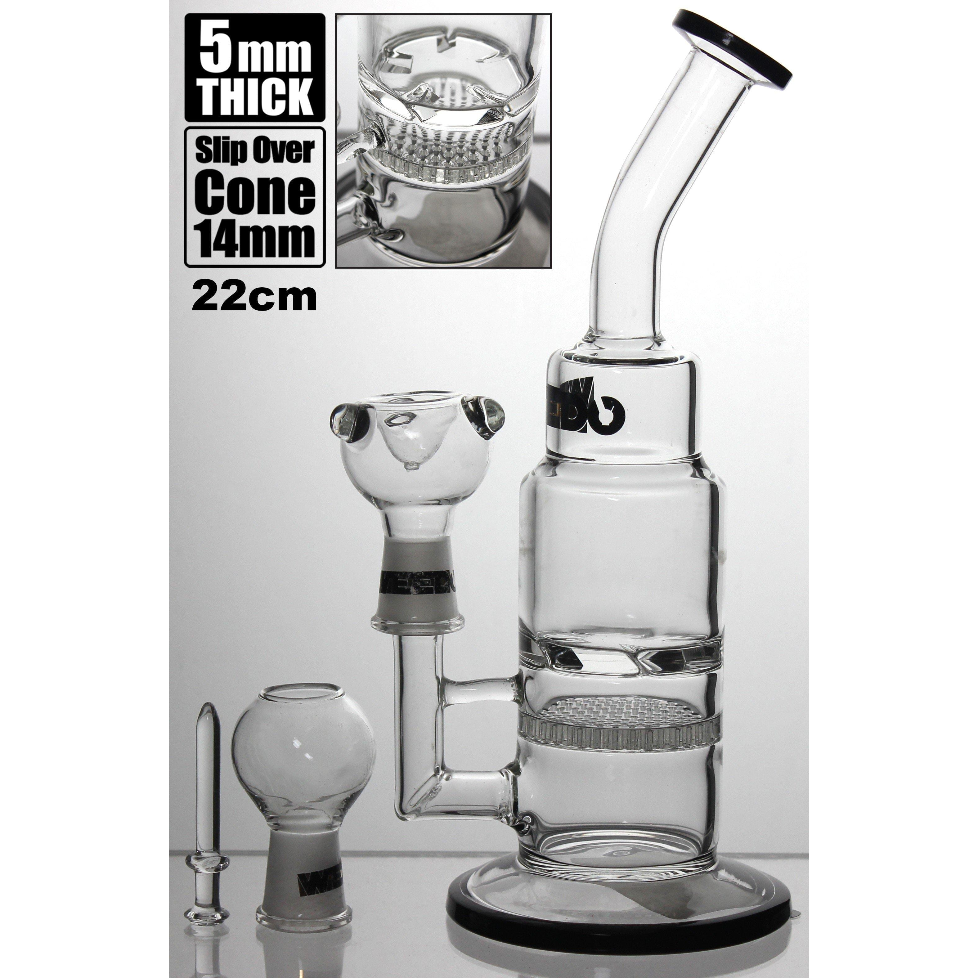 WEEDO Gold Label 22cm waterpipe with circular perc double chamber (free stickers)