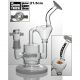 WEEDO 21.5cm double chamber recycler with herb holder-WHITE (free stickers)