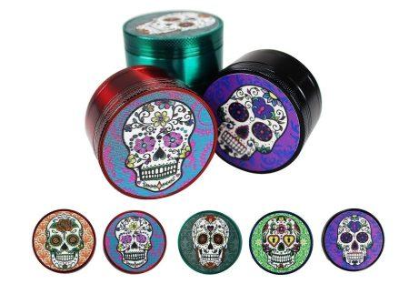 3 Piece Laser Cut Candy Skull Grinder