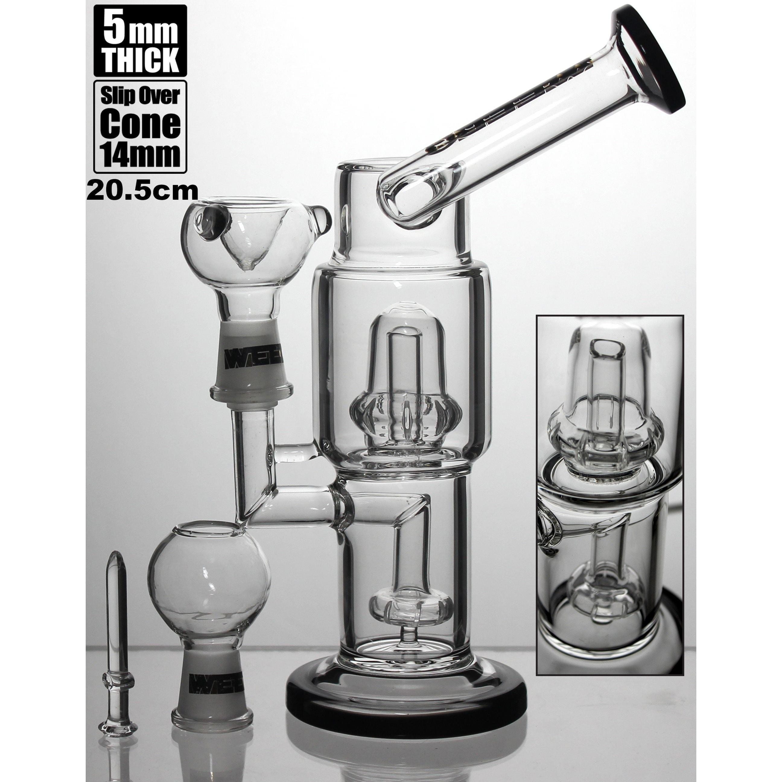 WEEDO Multi Perc double chamber Dab Rig Black 20.5cm (free stickers)