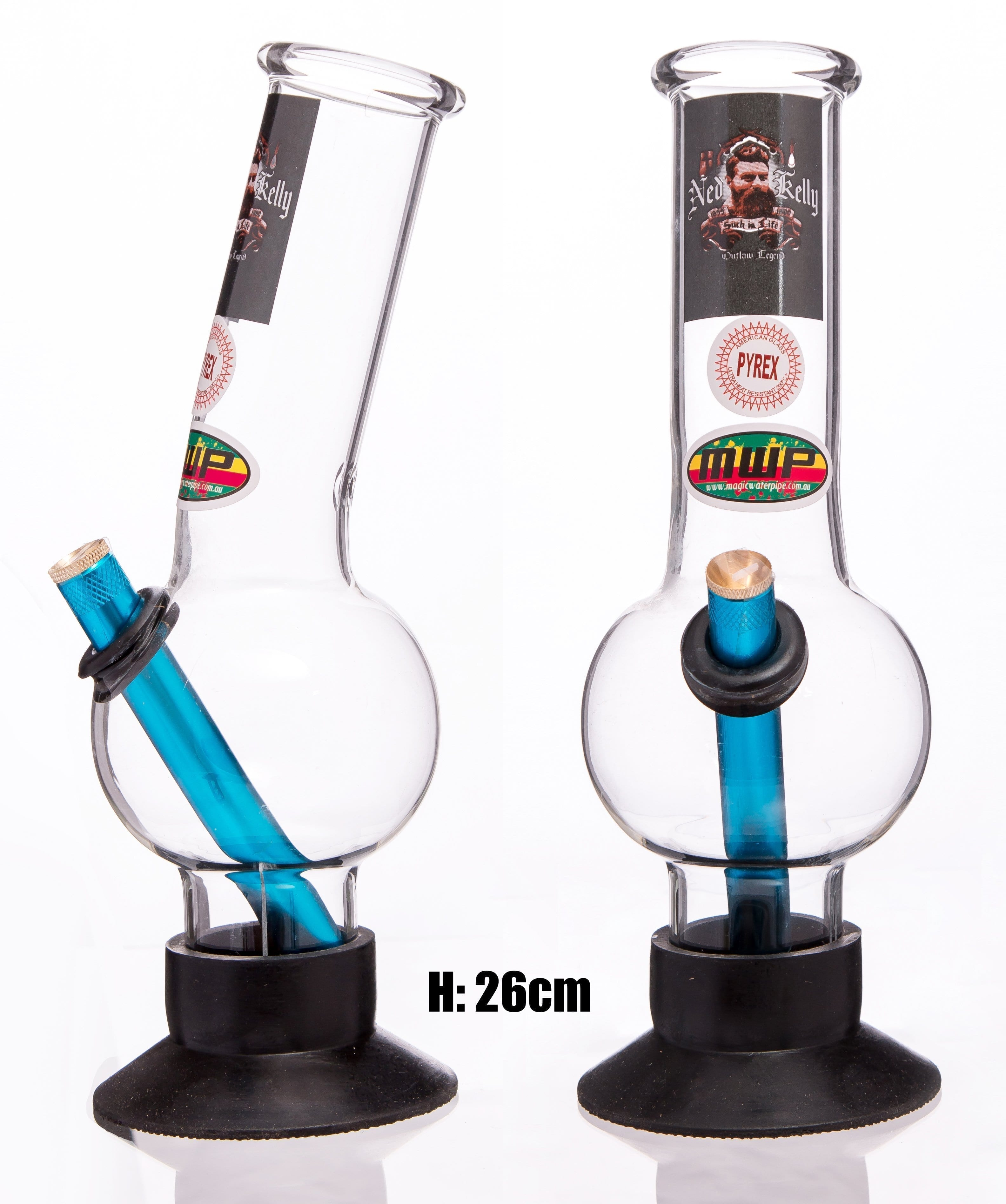 MWP Medium Glass Bent Bonza - Ned Kelly