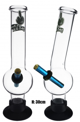 Large Glass Bonza Bubble - Have A Nice Day