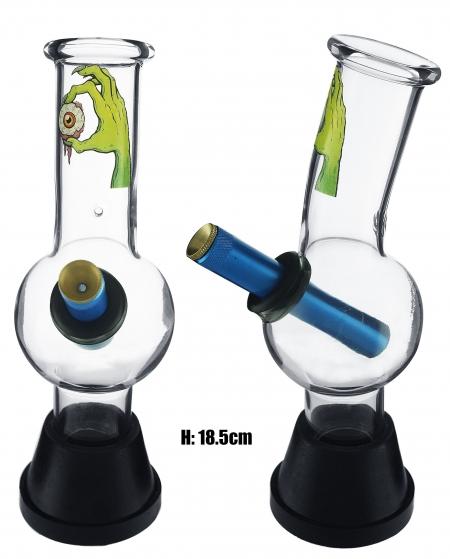 Small Glass Bonza Bubble - Red Eyeball