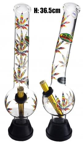 XLarge Glass Bonza Bubble - Colorful Leaf (36.5cm)