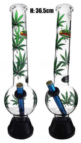 XLarge Glass Bonza Bubble - Green Leaf (36.5cm)