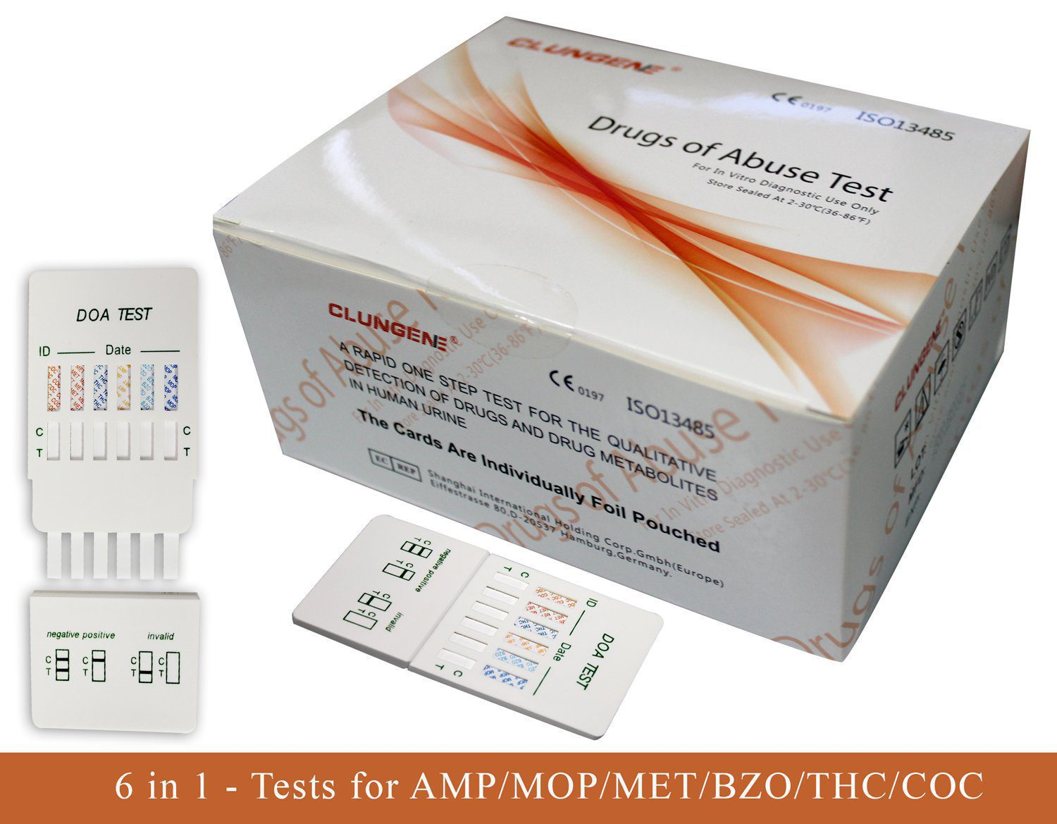 6 In 1 Drug Test Kit  (AMP / MOR / MET / BZO / THC / COC)