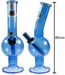 MWP Blue All Glass Bent Bubble 29.5cm