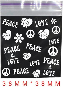 Peace Printed Bag 38mm X 38mm