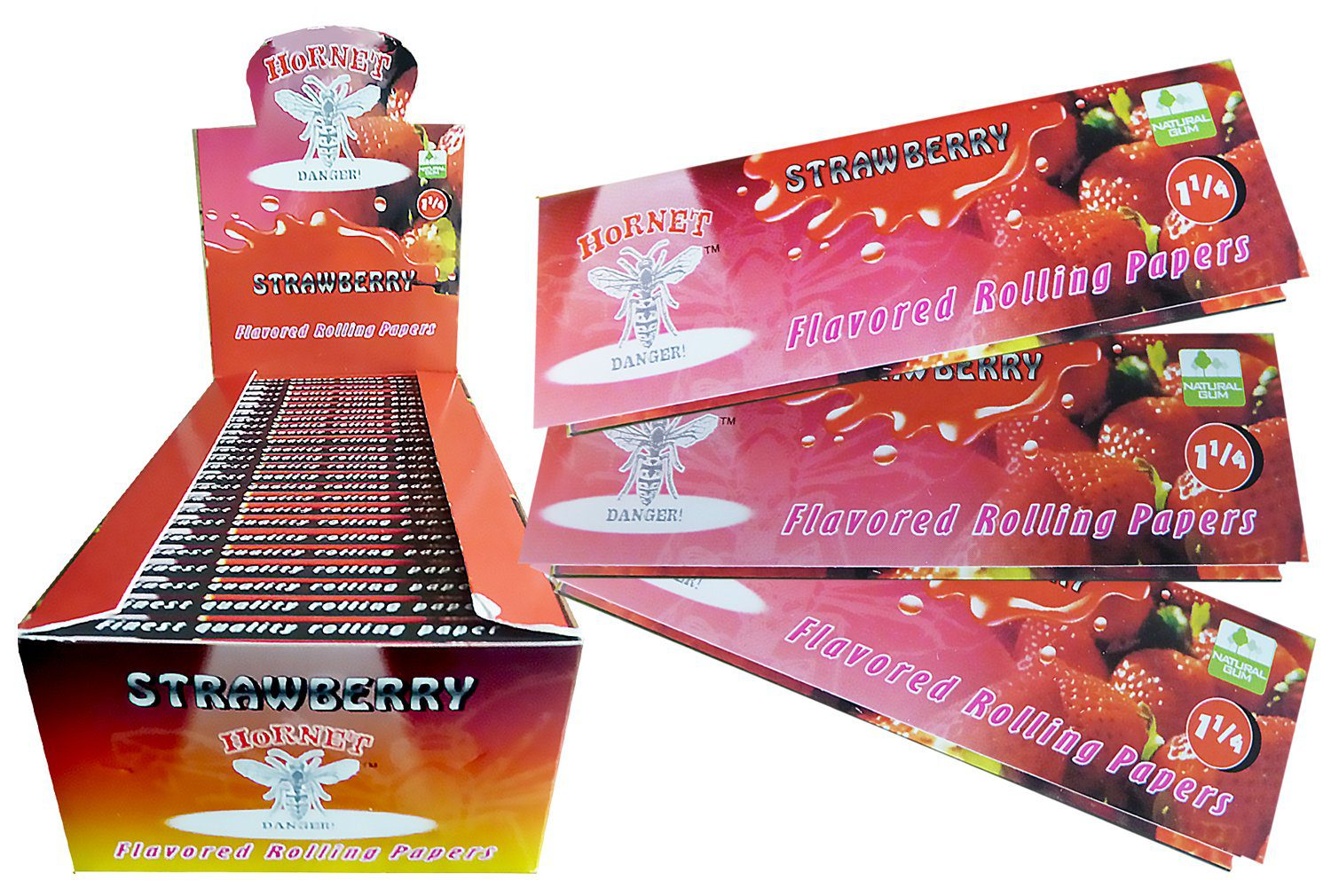 Hornet Rolling Papers Standard Size - Strawberry Flavour