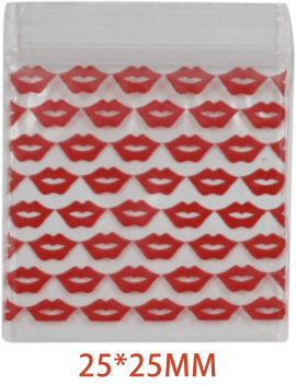 Red Lip Bag 25mm x 25mm