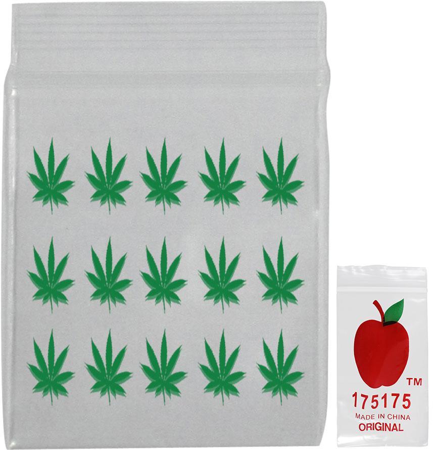 Green Leaf Bag 44mm x 44mm
