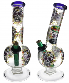 Large Bent Bubble With Candy Skull (28cm)