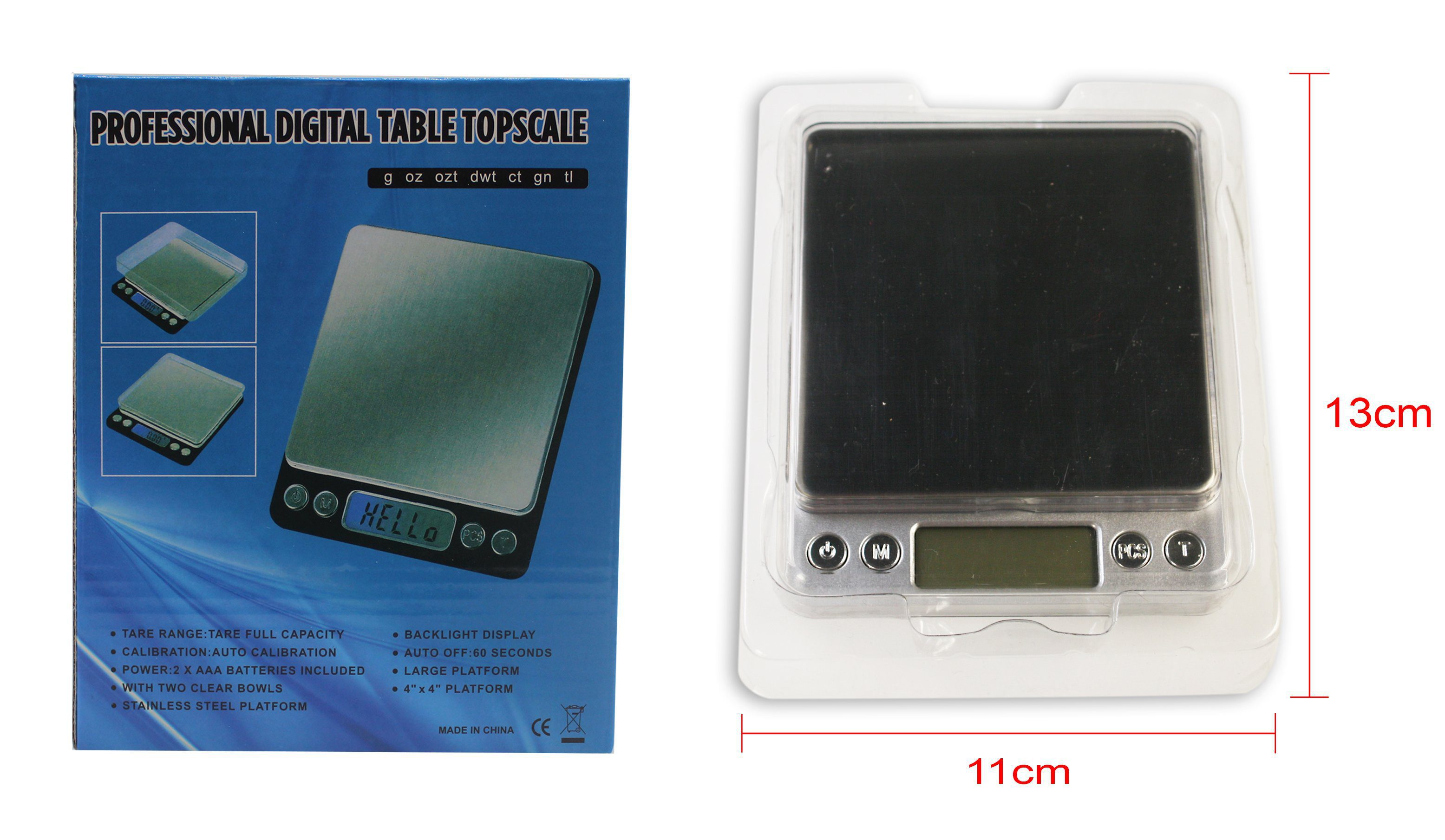 Professional Digital Scale 500g/0.01g