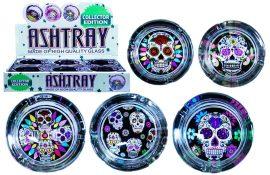 Candy Skulls Glass Ashtray