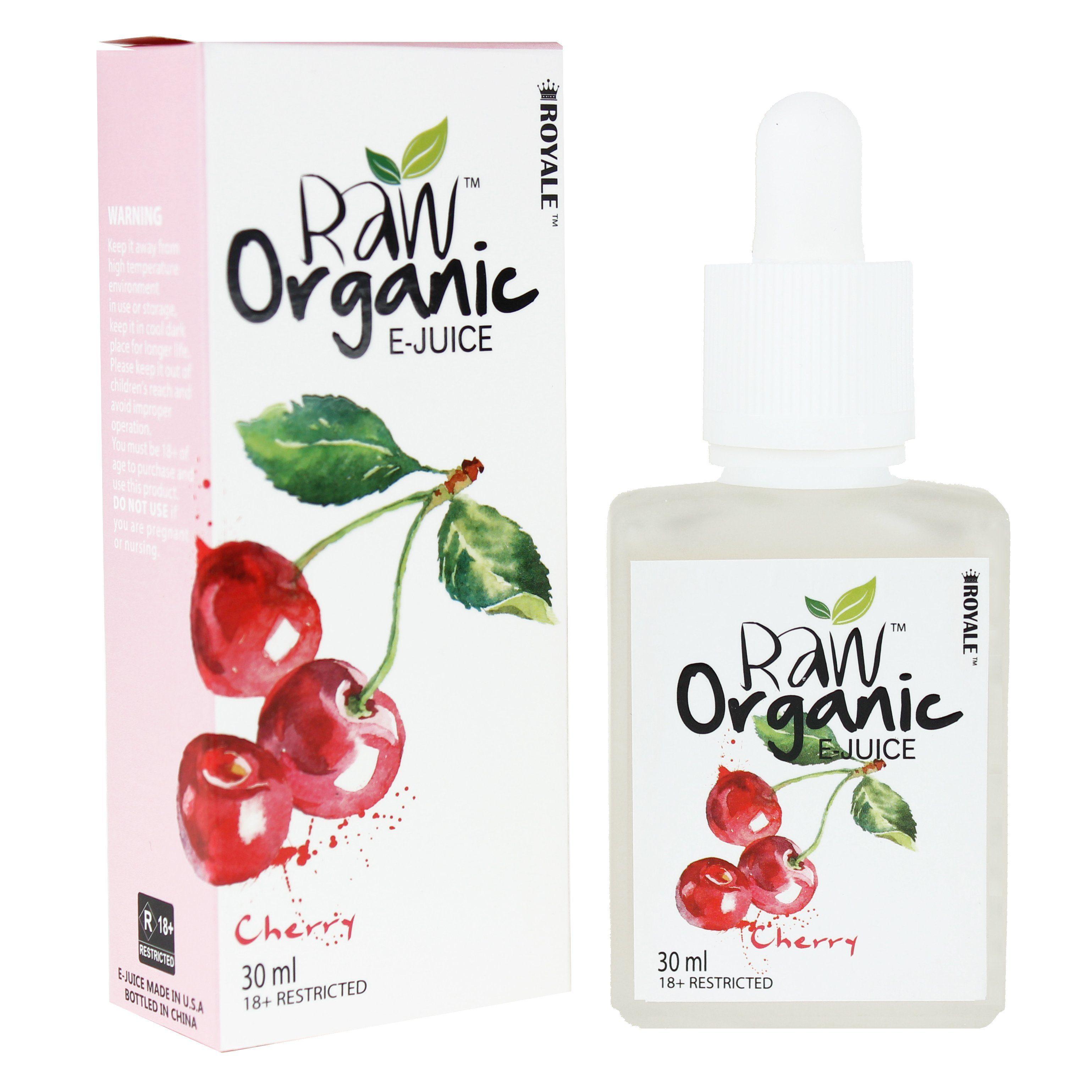 Raw Organic E-juice 50%VG 30ml - Cherry