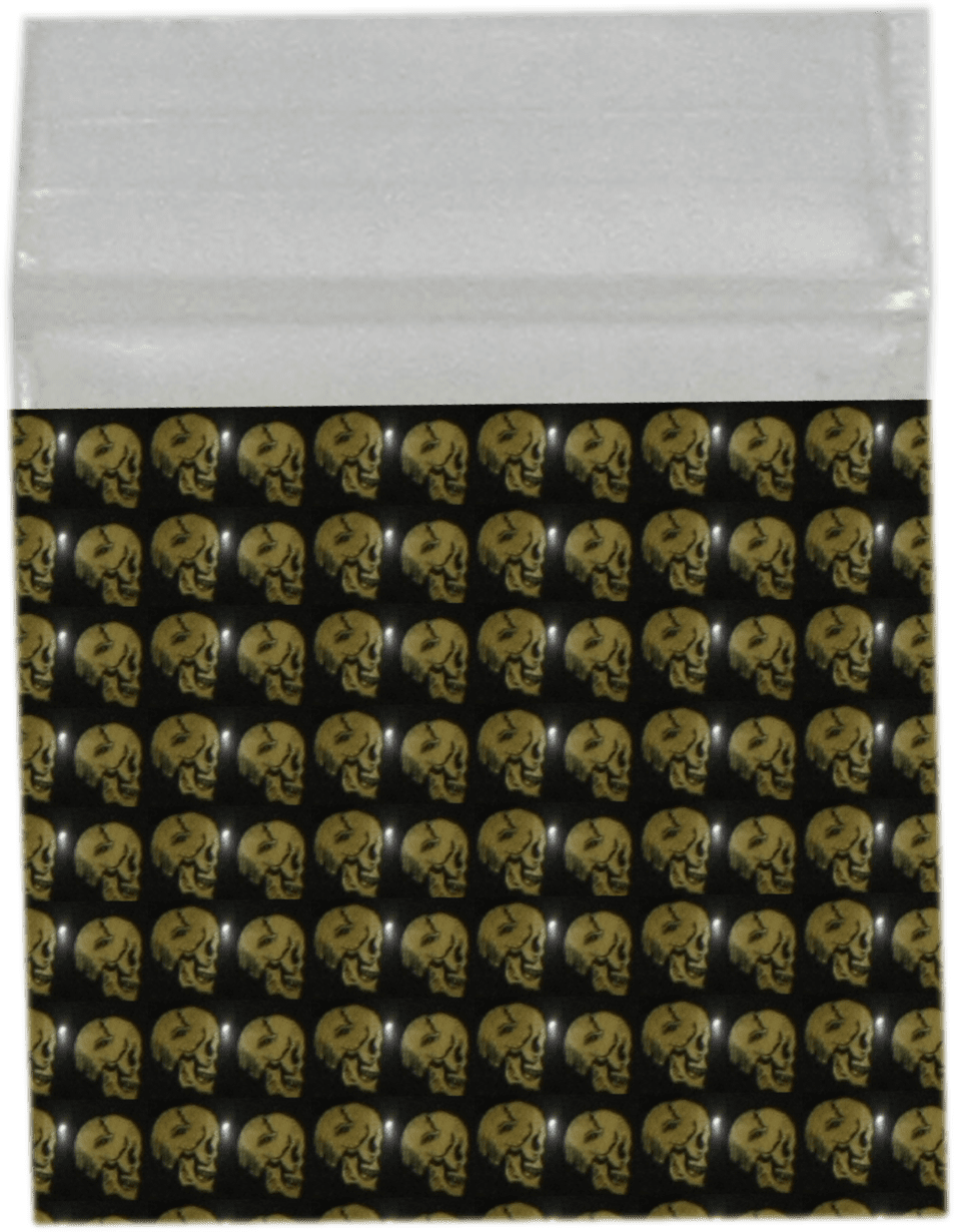 Gold Skull Bag 32mm x 32mm