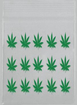 Green Leaf Bag 32mm x 32mm