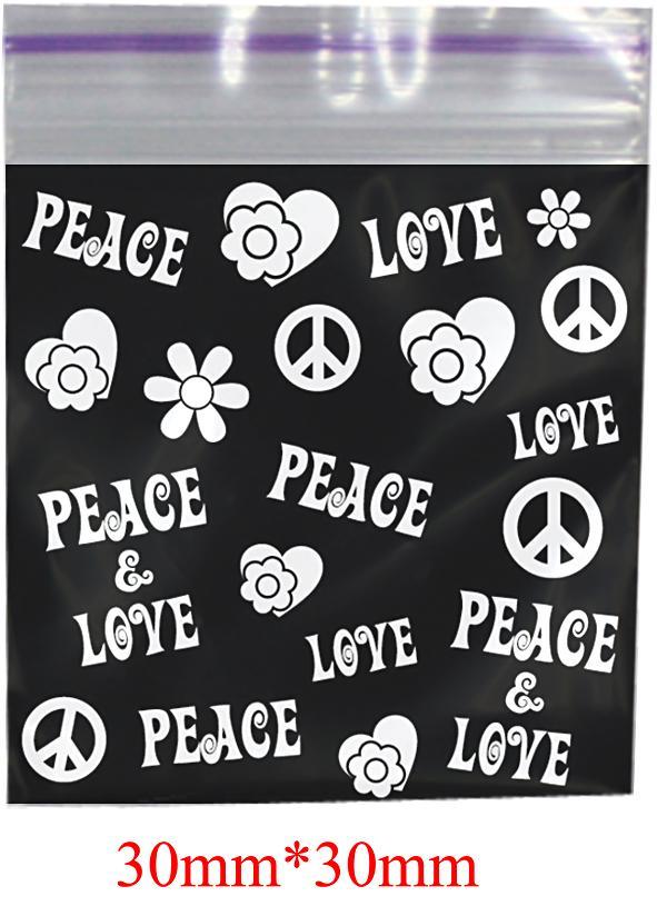 Peace Printed Bag 30mm X 30mm