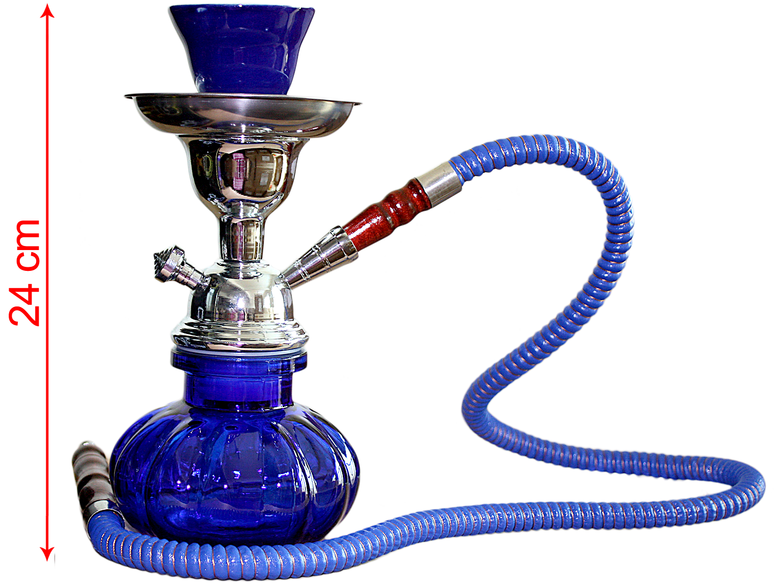 Hookah Blue, Metal Stem Pumpkin (24cm)