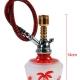 Mini Hookah With Girl On Island - Red (14cm)