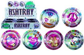 Peace And Love Glass Ashtray