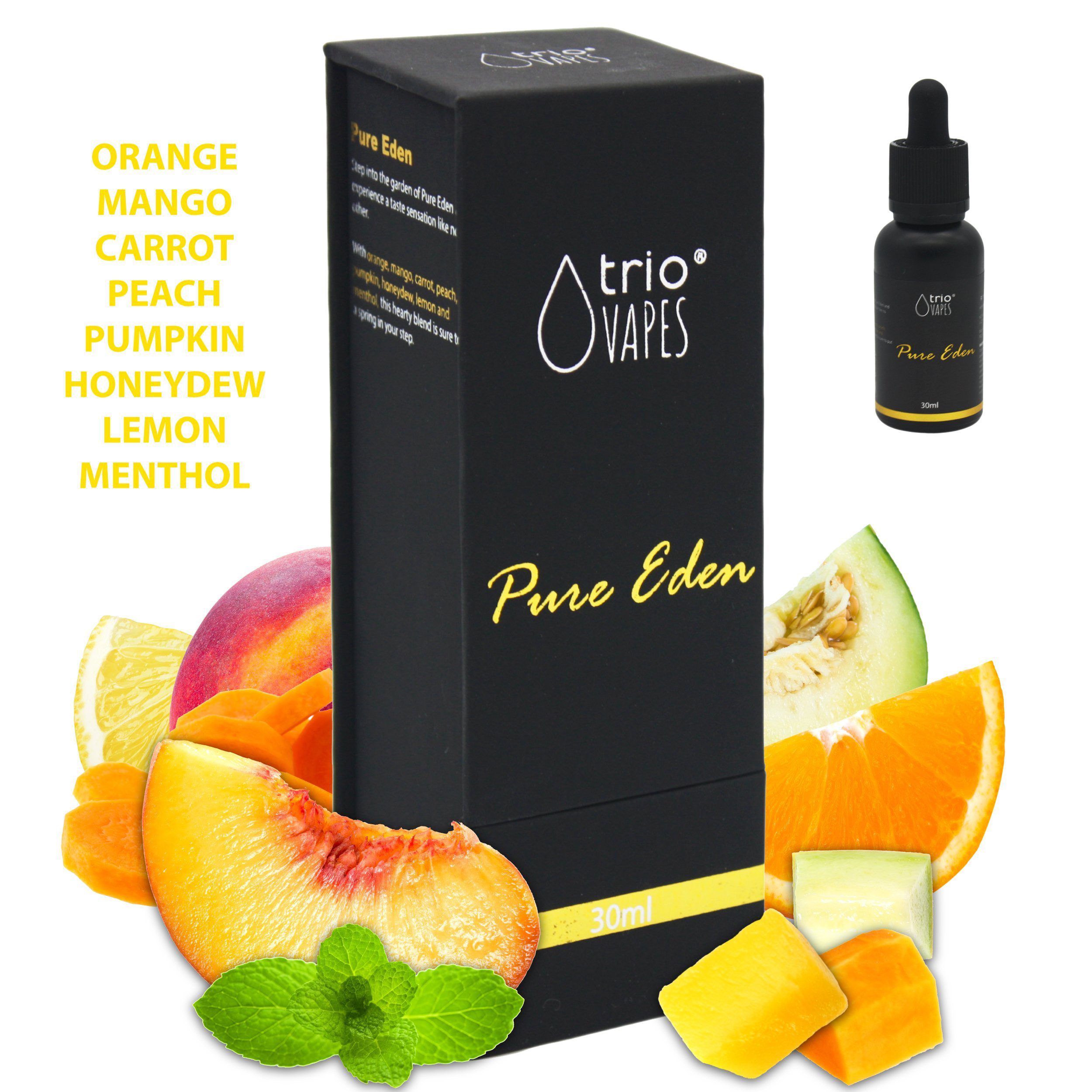 Trio Vapes Premium E-Liquid - Pure Eden