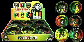 Bob Marley One Love Glass Ashtray