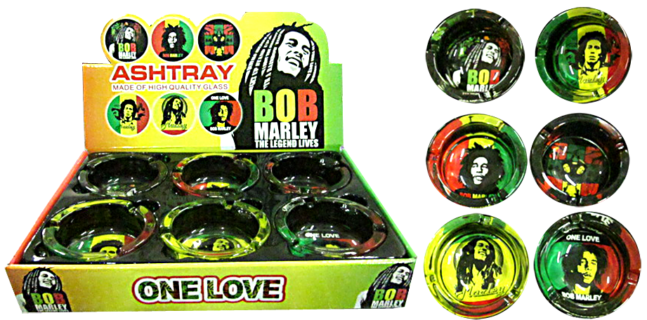 Bob Marley One Love Glass Ashtray
