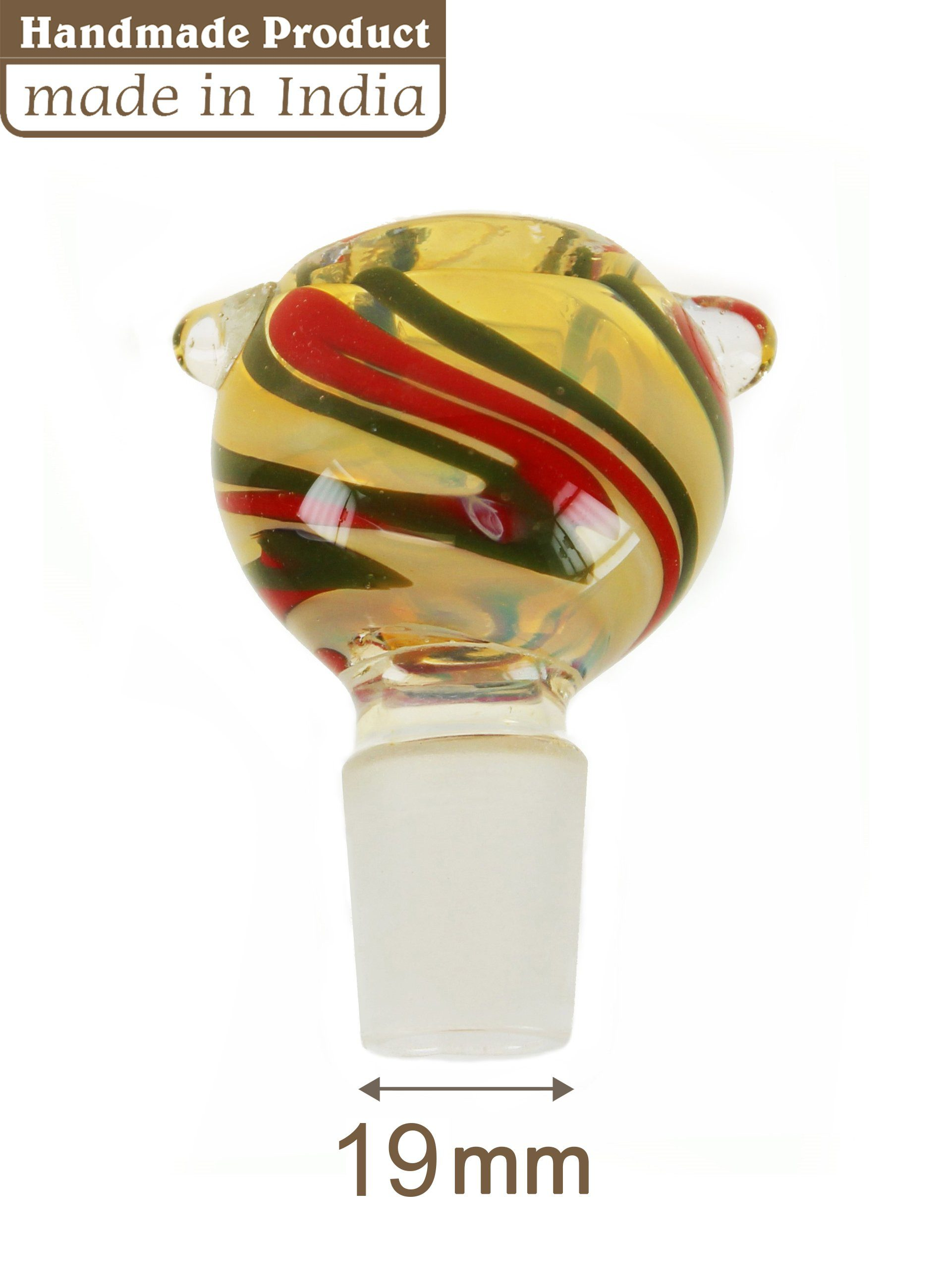 Multi Coloured Glass Cone - 19mm