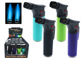 Twin Flame Blowtorch Lighter - Fluro