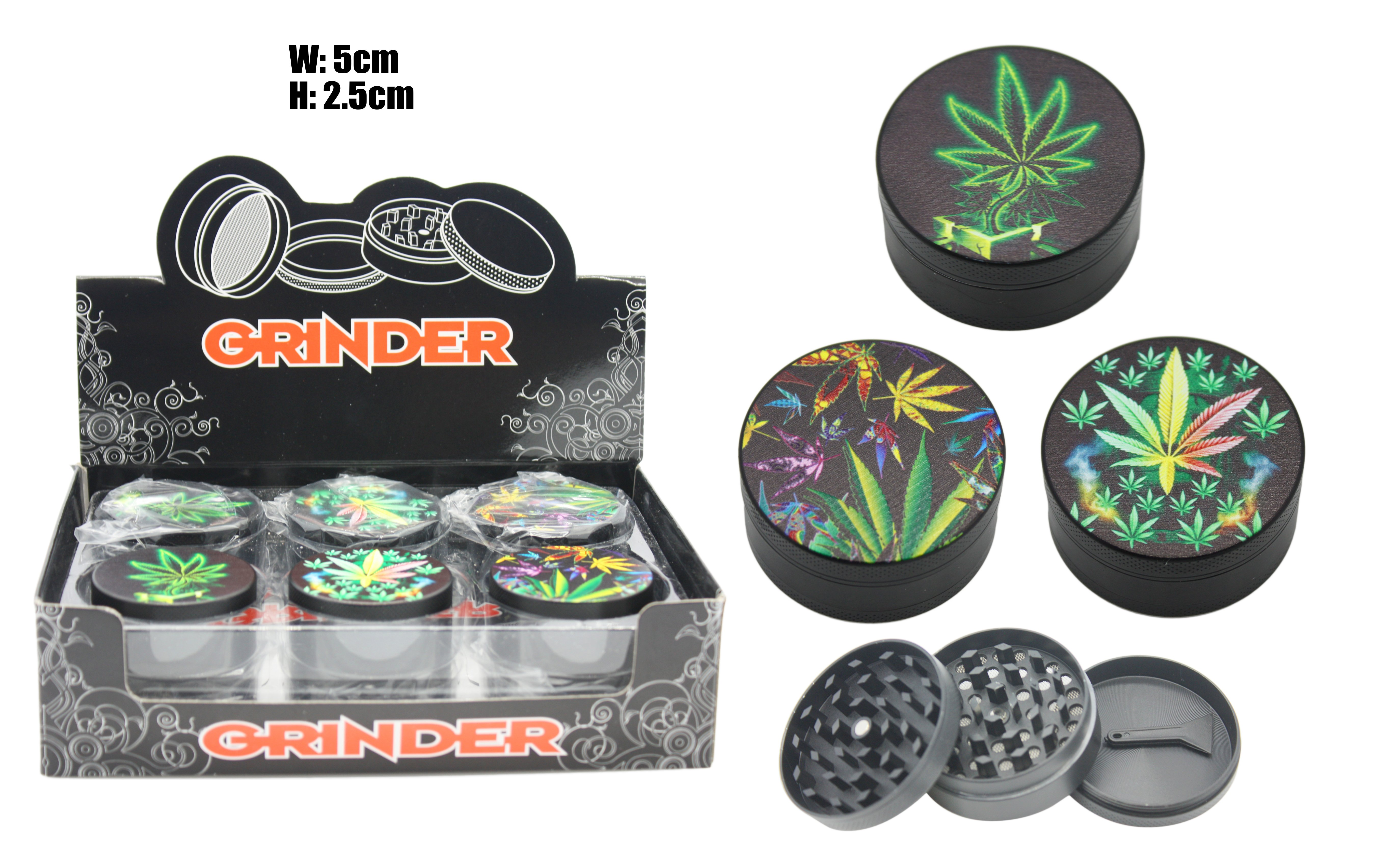 LEAF 3PC Metal Grinder With Storage