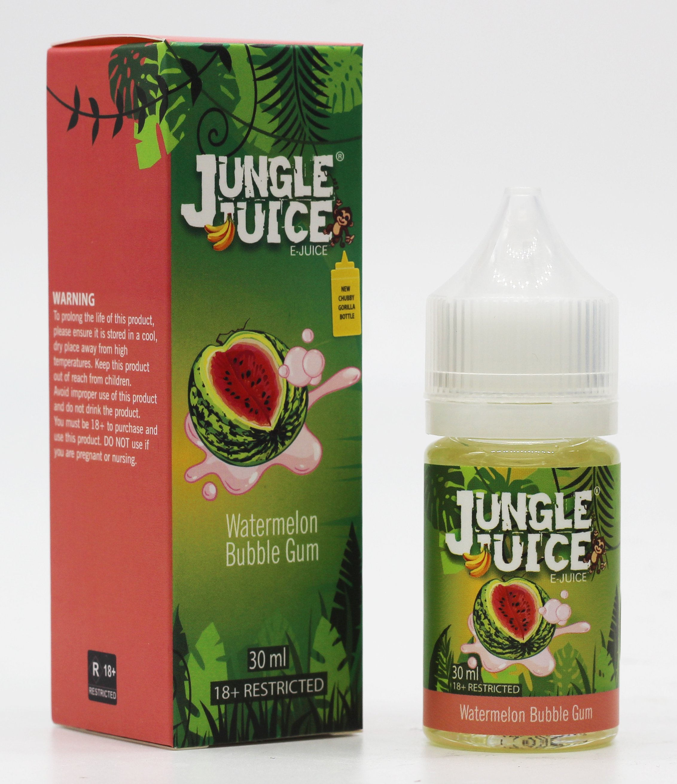 Jungle Juice 70%VG E-juice - Watermelon Bubble Gum 30ml