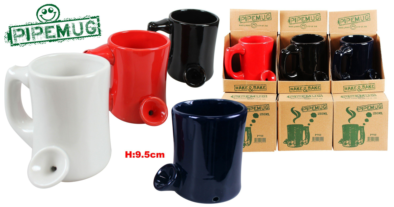 2x Pipe Mug 250ml 9.5cm