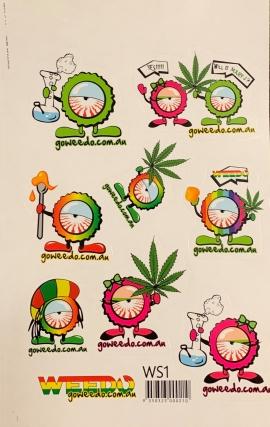 WEEDO Stickers x 3