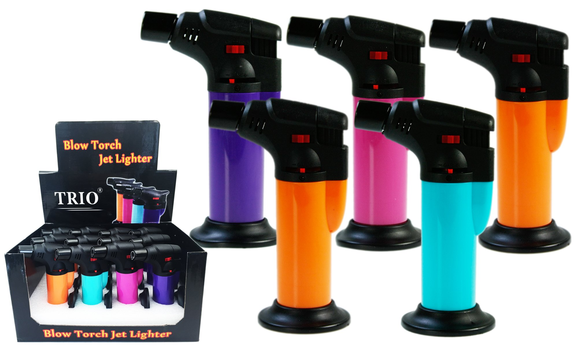 Gloss Fluro Stand Up Blow Torch Jet Lighter