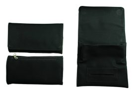 Black PU Tobacco Pouch Fit 25g