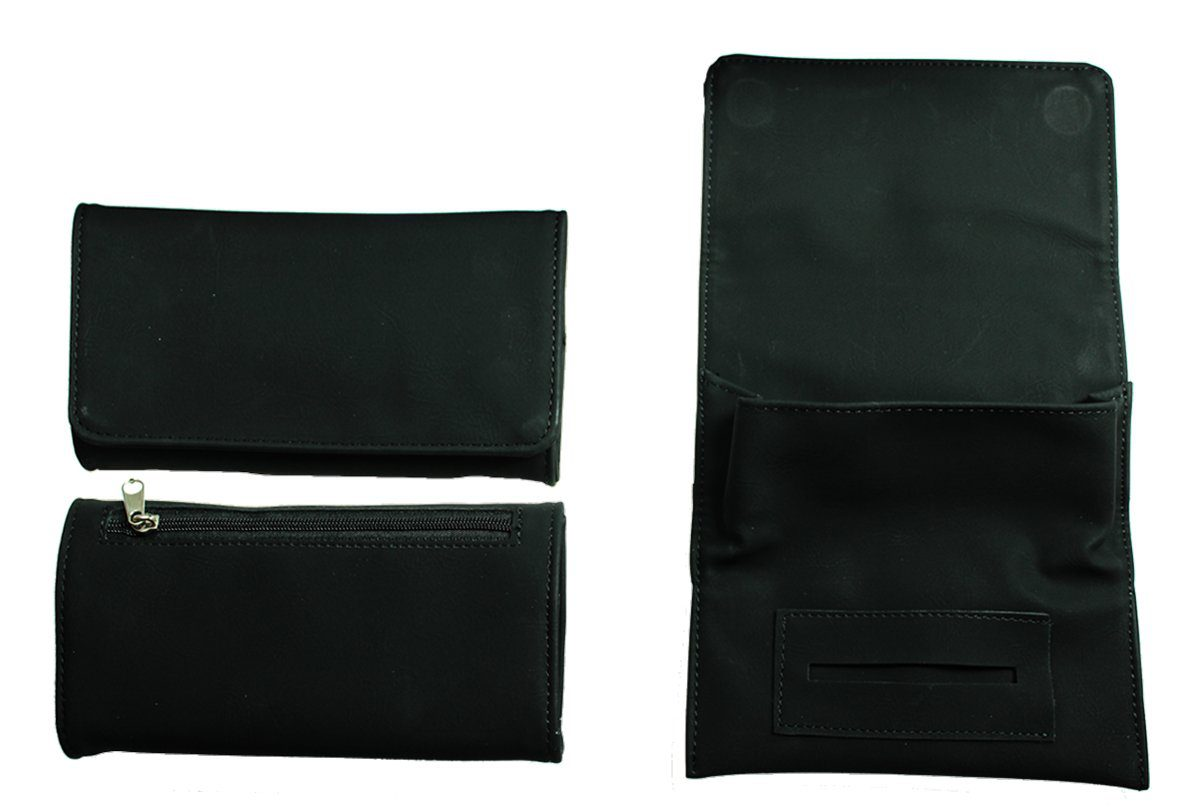 Black PU Tobacco Pouch Fit 25g