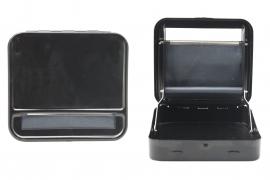 Metal Roller & Tobacco Case - Black