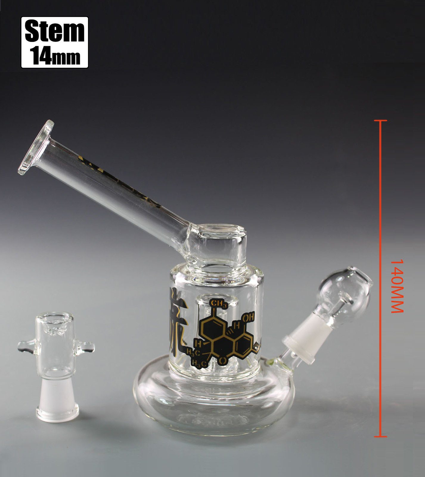 WEEDO THC Riglet with Perc (free stickers)