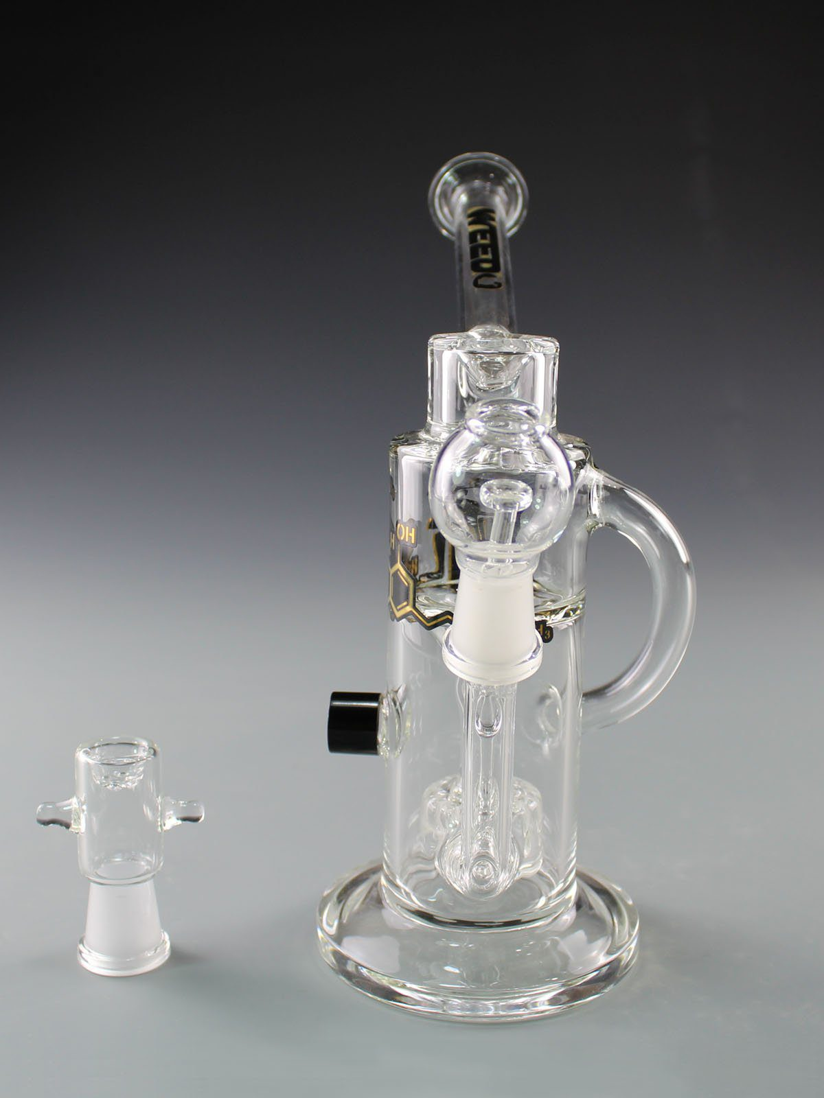 WEEDO THC Recycler with Percs (free stickers)
